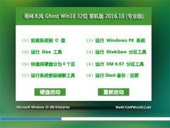 雨林木风Ghost Win10 (X32) 内部装机版V2016年10月(激活版)