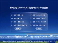 新萝卜家园Ghost Win10 x32位 办公装机版v2016.12月(完美激活)