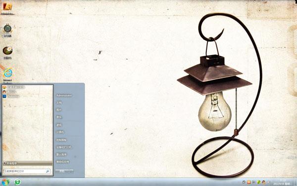 古老的灯W8电脑主题