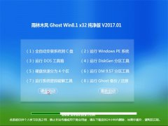 雨林木风Ghost Win8.1 (32位) 官方纯净版V2017年01月(永久激活)
