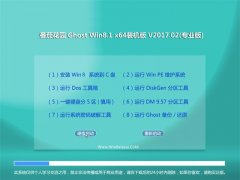 番茄花园Ghost Win8.1 64位 精简装机版v201702(免激活)