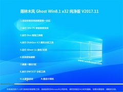 雨林木风Ghost Win8.1 X32 完美纯净版V2017年11月(免激活)