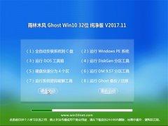 雨林木风Ghost Win10 (32位) 超纯纯净版V2017年11月(无需激活)