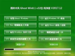雨林木风Ghost Win8.1 X32位 绿色纯净版2017.12月(自动激活)